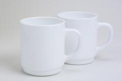 Kaffeebecher, Weißglas