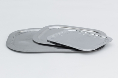 Servierplatte, Chrom, versch. Größen